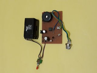 alcohol detector project using 555
