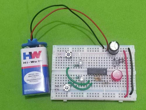nand gate project - breadboard