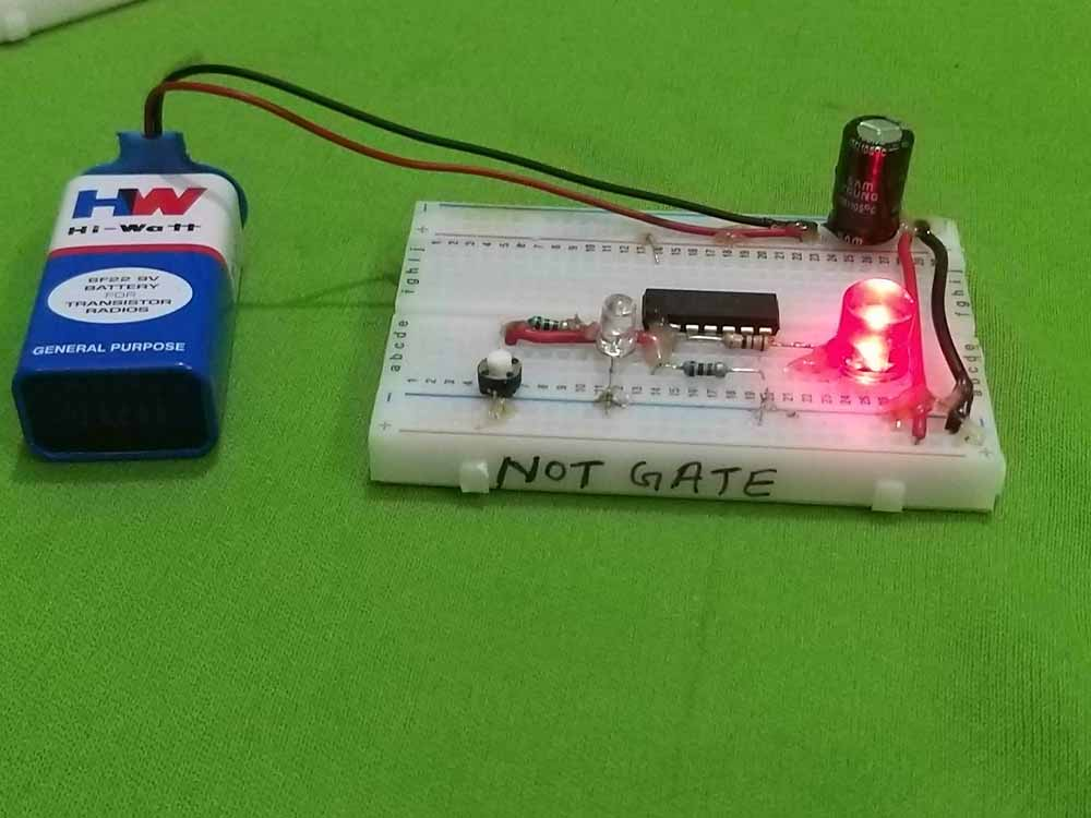 not gate project - breadboard