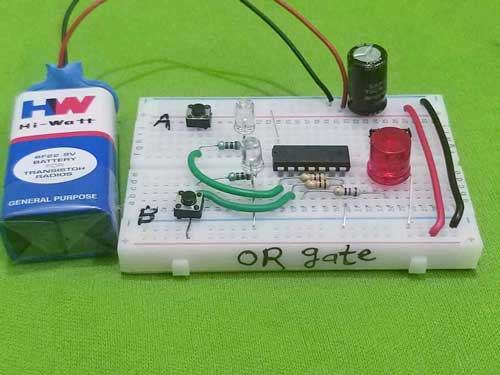 or gate project - on breadboard